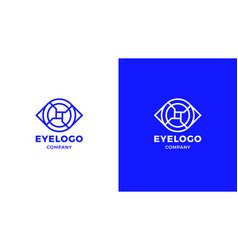 eye logotype template positive and negative vector image