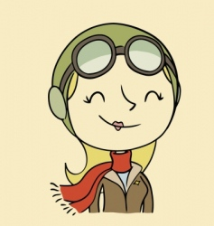 female aviator vector image