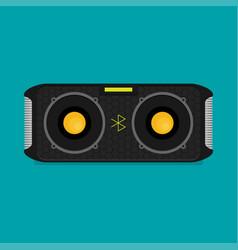 flat bluetooth speakers vector image