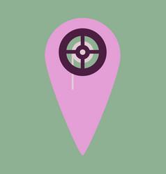 Flat icon pointer cinema vector
