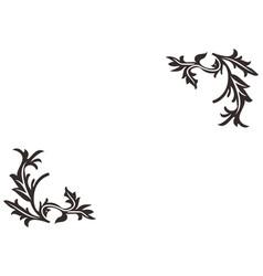 floral background element logo vector image