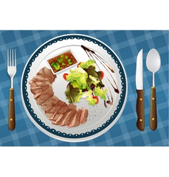 food and a dish vector image