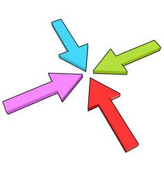 four arrows ii vector image