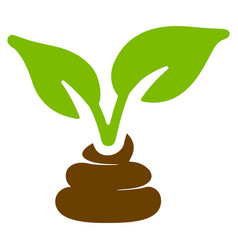 Garden natural fertilizer flat icon vector