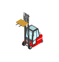 Gas powered forklift vector