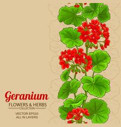 geleranium background vector image