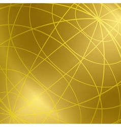 Gold background with shiny meridian lines vector