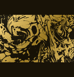 gold marbled texture golden background black and vector image