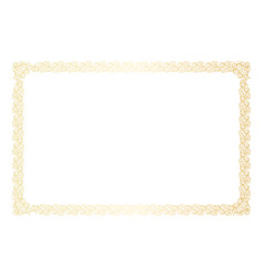Golden floral horizontal frame decoration vector