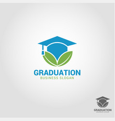 graduation - education logo template vector image
