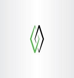green black tech logo sign symbol element vector image