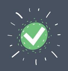green check mark icon vector image