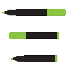 Green marker set vector image