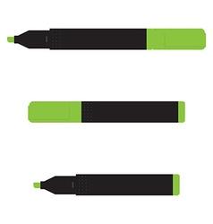 Green marker set vector