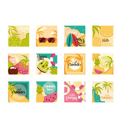 hello summer travel and vacation season banner vector image