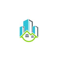 home building cityscape logo vector image