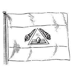 Honduran flag vintage vector