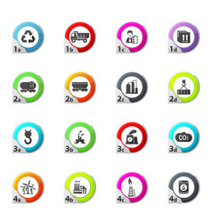industry icons set vector image