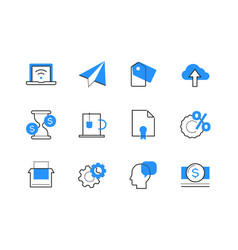 internet business - line design style icons set vector image