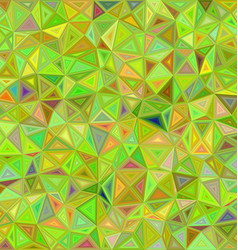 Lime color triangle mosaic background design vector
