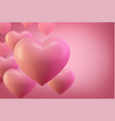 love heart background valentine background vector image