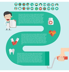 Medical Infographics in flast design with useful vector image