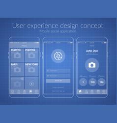 mobile ux design concept vector image