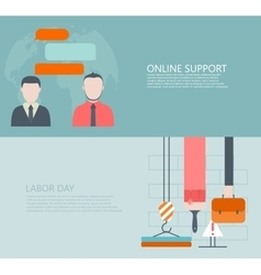 Modern flat online support or feedback vector