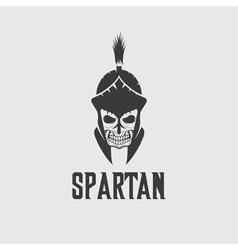 Old Vintage Antiques Skull Spartan warrior design vector image