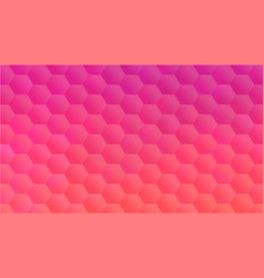 pink peach hexagon mosaic backdrop for banner vector image