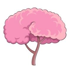 Sakura tree icon cartoon style vector image