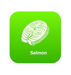 salmon icon green vector image