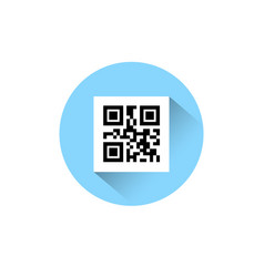 Sample qr codes for smartphone scanning icon on vector