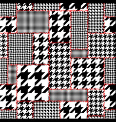 Seamless hounds-tooth pattern vector