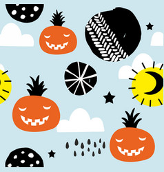 seamless pattern for halloween party decoration vector image