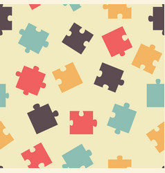seamless pattern pieces of puzzle vector image