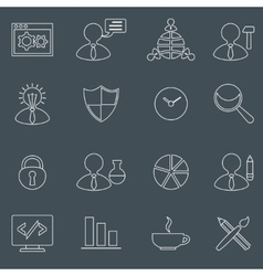 SEO icons set outline vector image