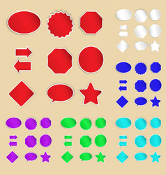 Set of paper labels and stickers vector image