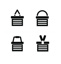 shopping cart icon set 4 style vector image