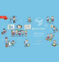 sketch school education concept vector image