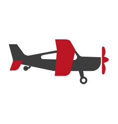small red and black airplane vector image