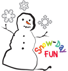 Snow-Day Fun vector
