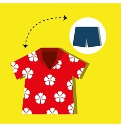 tourist clothes design vector image