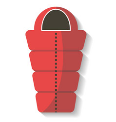 Tourist sleeping bag icon isolated vector