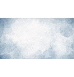 watercolor blue indigo splash on paper texture vector image