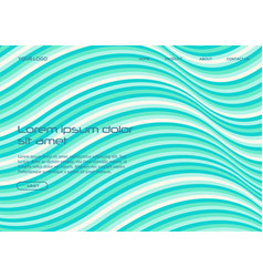 wavy stripes background abstract papercut vector image