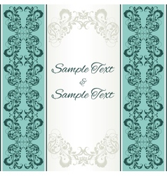 background with floral ornamental frame vector image