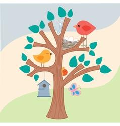 Birds Tree vector image
