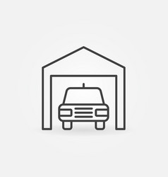 car garage icon vector image
