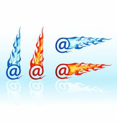fire e-mails vector image vector image